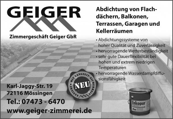 Geiger Zimmerei - Abdichtungen